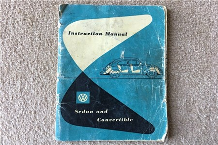 December 1954 Oval Beetle Instruction Manual in English