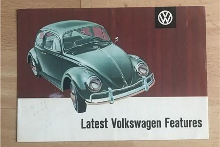 Original Vintage 'Latest volkswagen features' Brochure