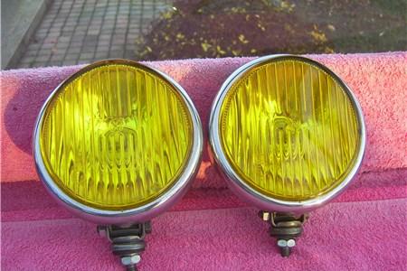 Yellow Fog Lights VW Logo Beetle Split Oval Bug