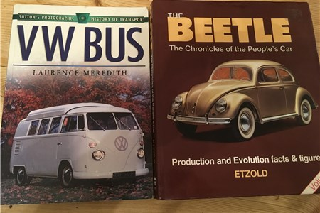 VW Bus and VW Beetle books