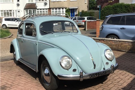 1956 VW Beetle Oval Swedish LHD Matching numbers in close to original condition L331 Horizon Blue