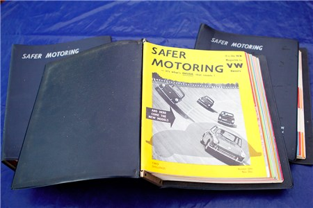 Rare VW Motoring Magazines. 35 issues in binders 1961 - 1965 including issue 1