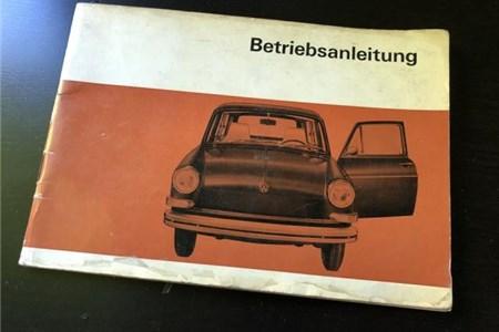 Original Volkswagen Type 3 owner manual